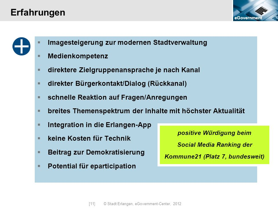 [11] © Stadt Erlangen, eGovernment-Center, 2012